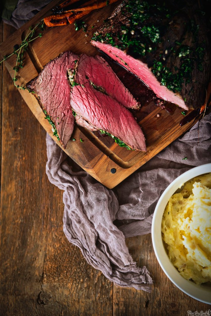 Perfect Herb Roasted Top Roast {Girl Carnivore}