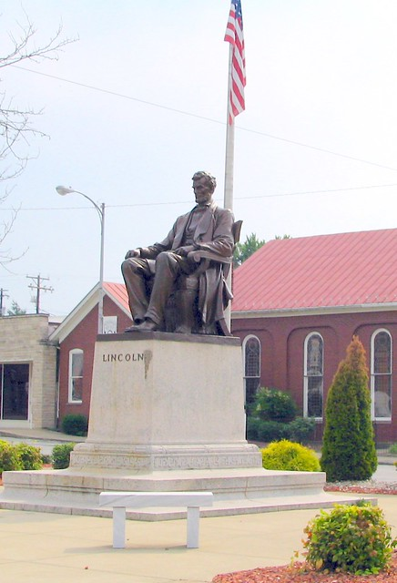 Lincoln Statue Town Square Hodgenville Ky Flickr