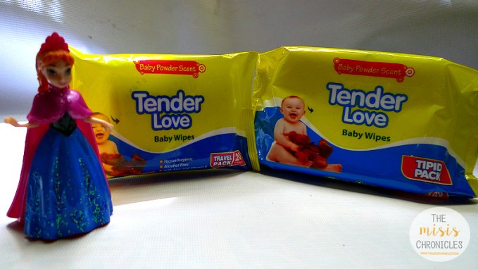 Tender Love Baby Wipes Baby Powder Scent