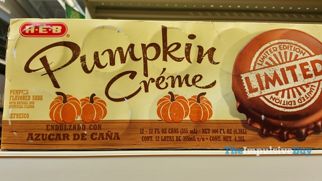 H-E-B Limited Edition Pumpkin Creme Soda