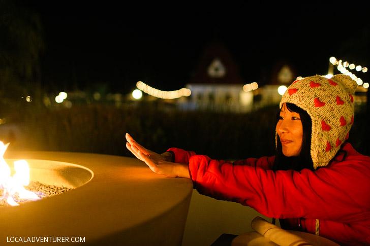 Firepits at ENO Hotel del Coronado, Coronado Island San Diego.