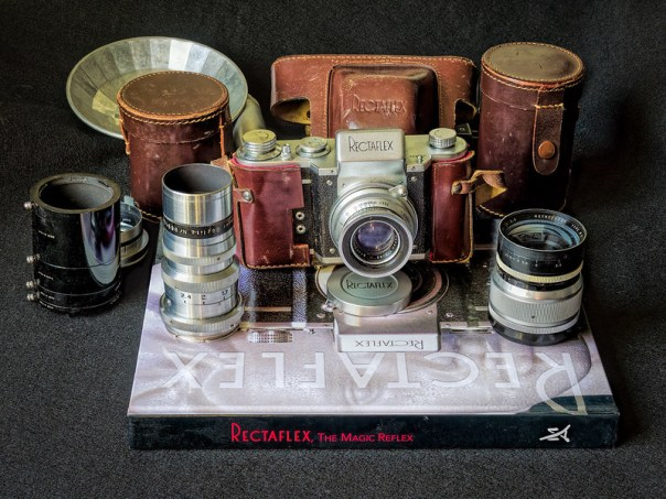 Early 1950s, Italian Rectaflex film SLR kit