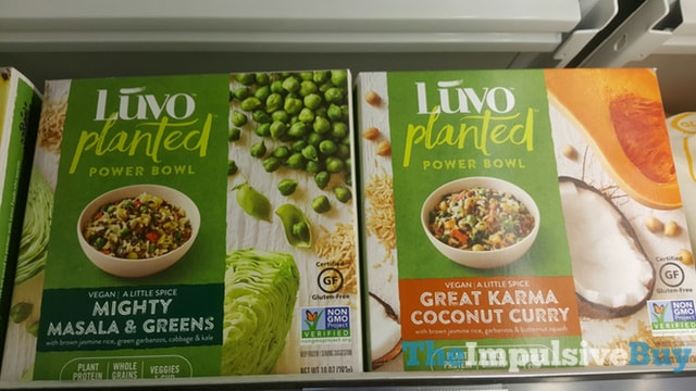 Luvo Planted Power Bowls (Mighty Masala & Greens and Great Karma Coconut Curry)