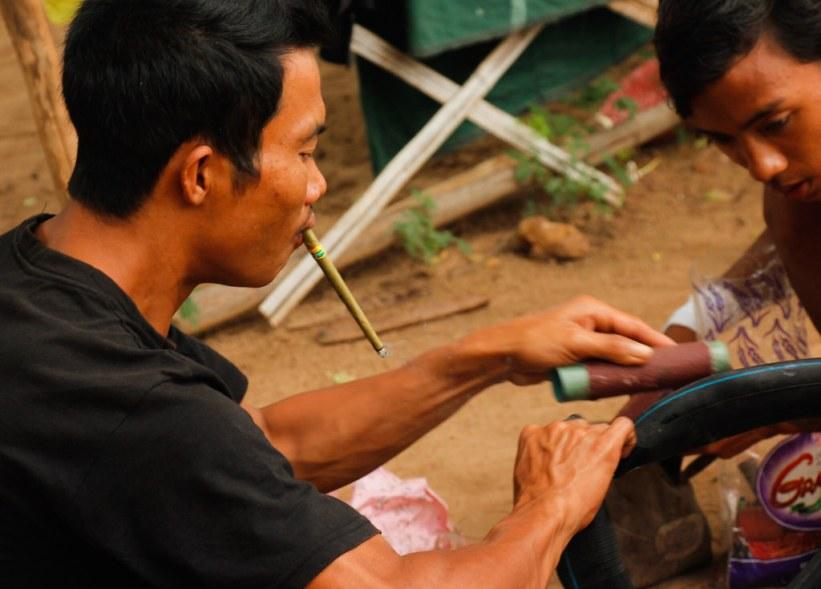 mød lokale i Bagan, Burma