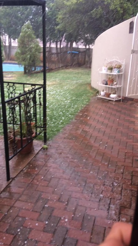 Hail storm in south Africa