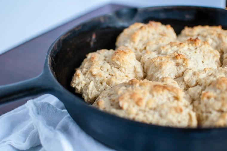 Skillet Drop Biscuits 3