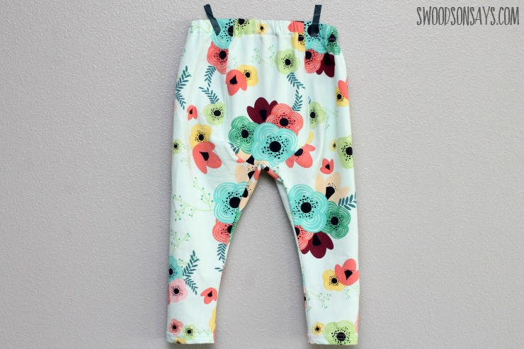 Back gusset - cloth diaper friendly baby pants sewing pattern