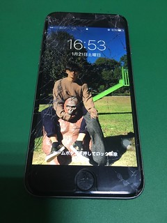 249_iPhone6のフロントパネルガラス割れ