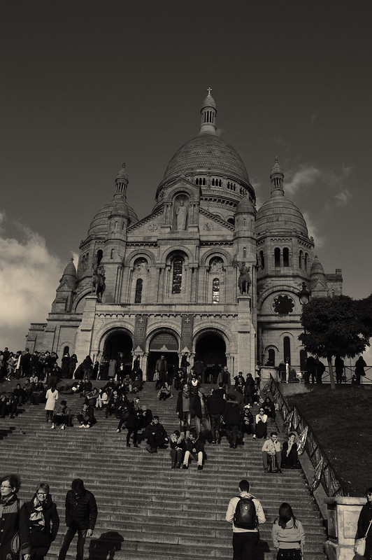 Sacre Coeur in black and white