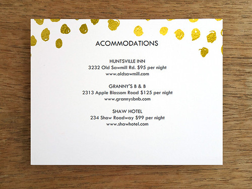 Printable Wedding Card Template - Gold Dots