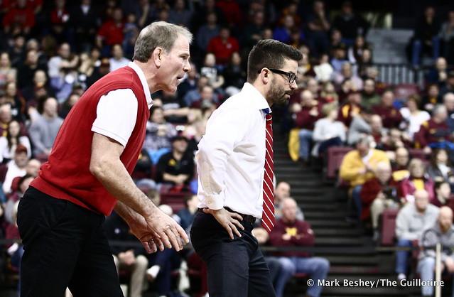 Nebraska Coaches Mark Manning and Bryan Snyder