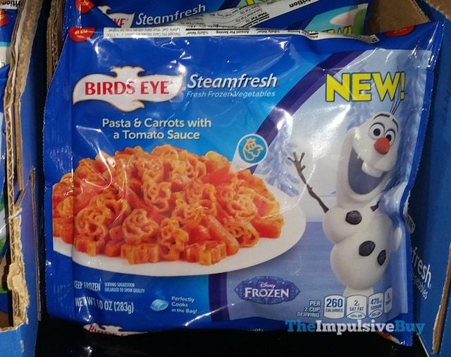 Birds Eye Steamfresh Disney Frozen Pasta & Carrots with a Tomato Sauce