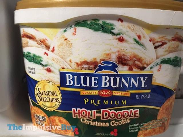Spotted on shelves blue bunny seasonal selections holi for Christmas cookie ice cream blue bell