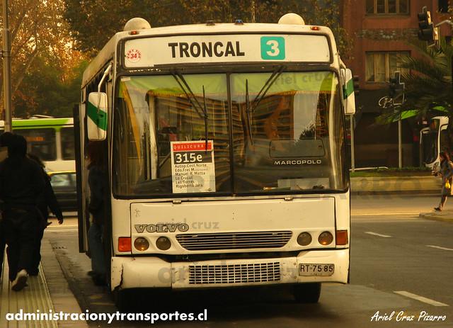 Transantiago - Buses Gran Santiago - Marcopolo Torino GV / Volvo (RT7585)