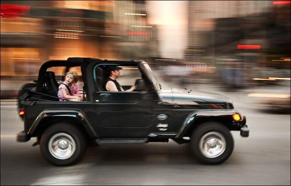 panning jeep