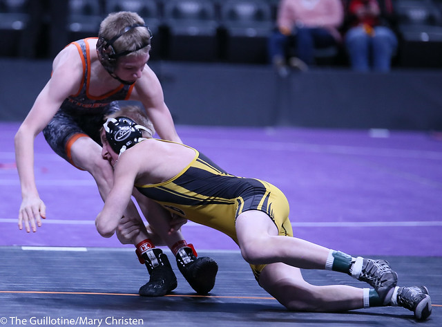106AA - Semifinal - Matthew Petersen (Byron) 39-0 won by major decision over Kyle Boeke (Princeton) 34-6 (MD 18-5)