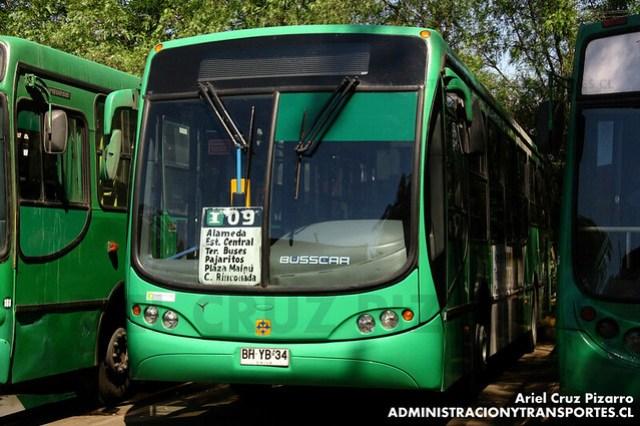 Transantiago - Comercial Nueva Milenio (Vule) - Busscar Urbanuss Pluss / Mercedes Benz (BHYB34)
