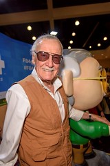 Stan Lee with statue