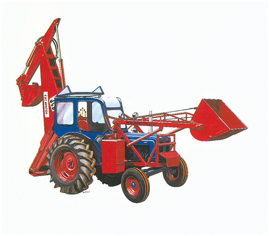 Экскаватор-погрузчик JCB Mk 1