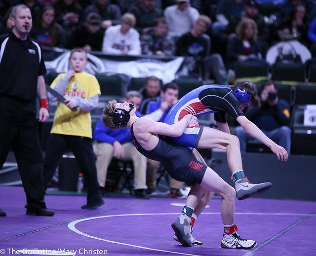 106AA - Semifinal - Jaxson Rohman (Fairmont-Martin County West) 39-2 won by decision over Nathan Garceau (Foley) 22-4 (Dec 9-5)