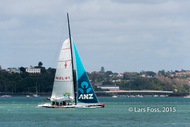 In the Auckland Harbour