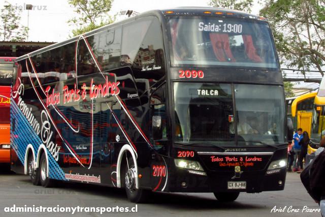 Talca París & Londres - Santiago - Busscar Panoràmico DD / Volvo (CXBJ88) (2090)