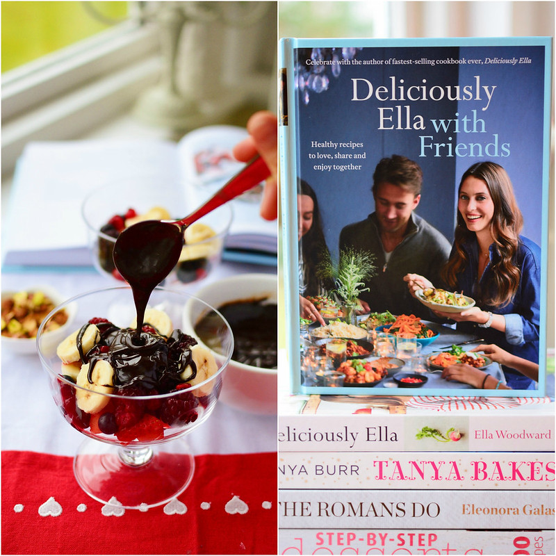 Deliciously Ella with Friends - Fruits with Warm Chocolate Sauce