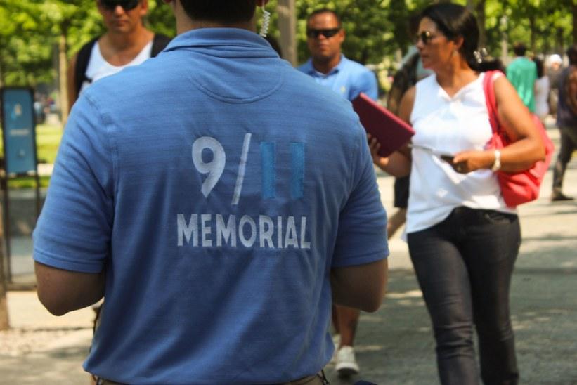 Frivillig ved 9/11 memorial