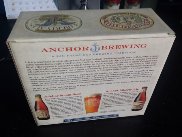 Verso do Kit Anchor Brewing