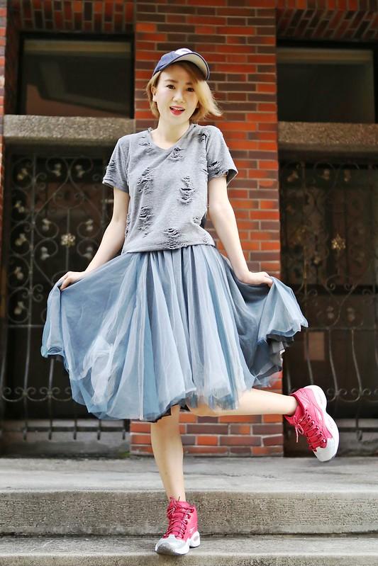 |穿搭| 紗裙的7種搭配法。夏秋換季對比照 @ Cutiefive's Fashion Neverland :: 痞客邦