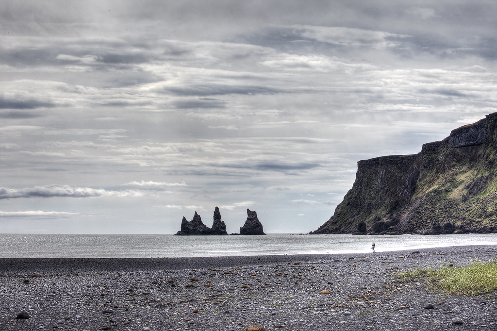 Looking out from Vik, Iceland.