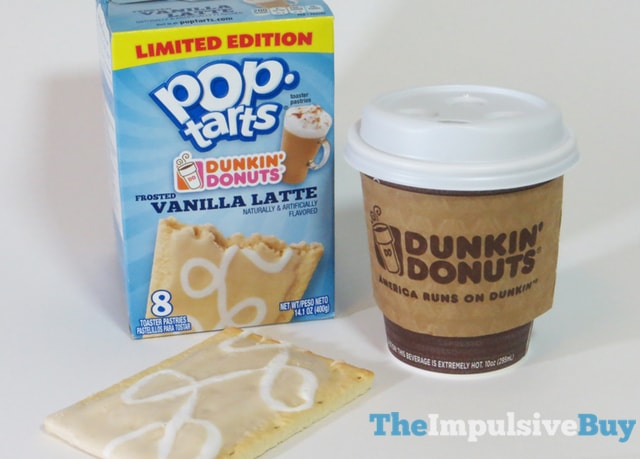 Limited Edition Dunkin' Donuts Frosted Vanilla Latte Pop-Tarts 6