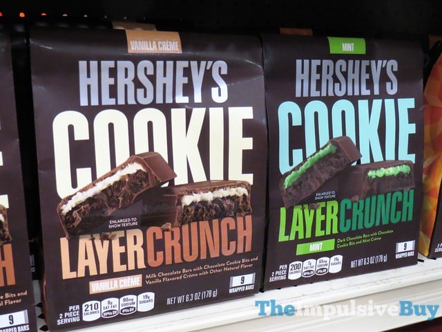 Hershey's Cookie Layer Crunch Bars (Vanilla Cre?me and Mint)