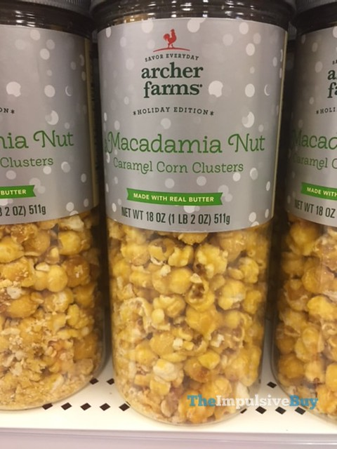 Archer Farms Holiday Edition Macadamia Nut Caramel Corn Clusters