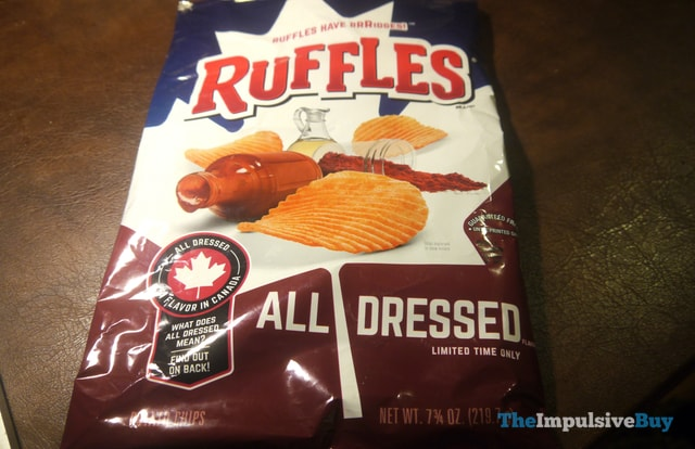 Ruffles Limited Time Only All Dressed Potato Chips 4