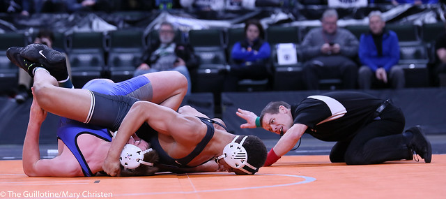 195AA - 1st Place Match - Daniel Kerkvliet (Simley) 45-1 won by fall over Saylor Schmit (Foley) 41-3 (Fall 0:46)
