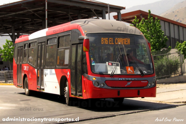 Transantiago - Redbus Urbano - Neobus Mega BRT / Volvo (CJRK37) (1205)