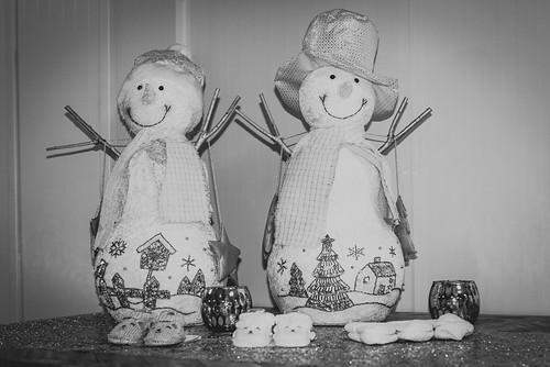 Snowmen B&W