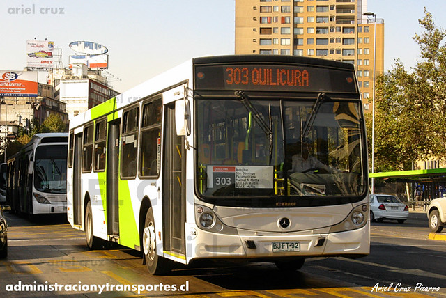 Transantiago - Buses Vule - Caio Mondego H / Mercedes Benz (BJFT92) (184)
