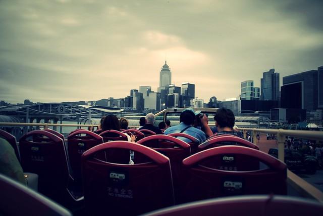 bus view Hong Kong