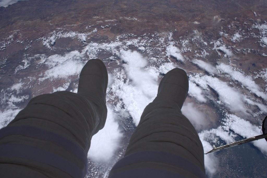 Dangling my feet in space