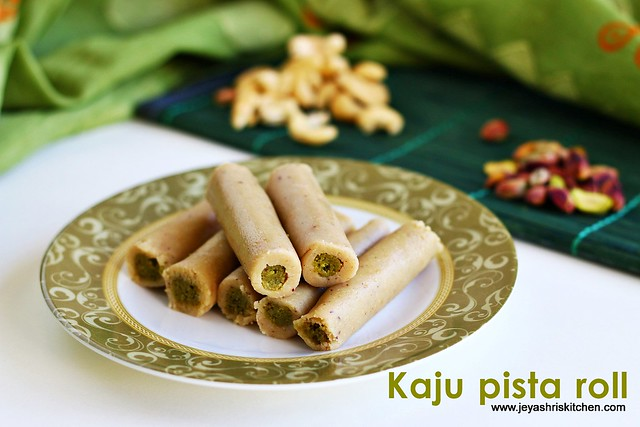 Kaju Pista Roll recipe Diwali sweets  Jeyashris Kitchen