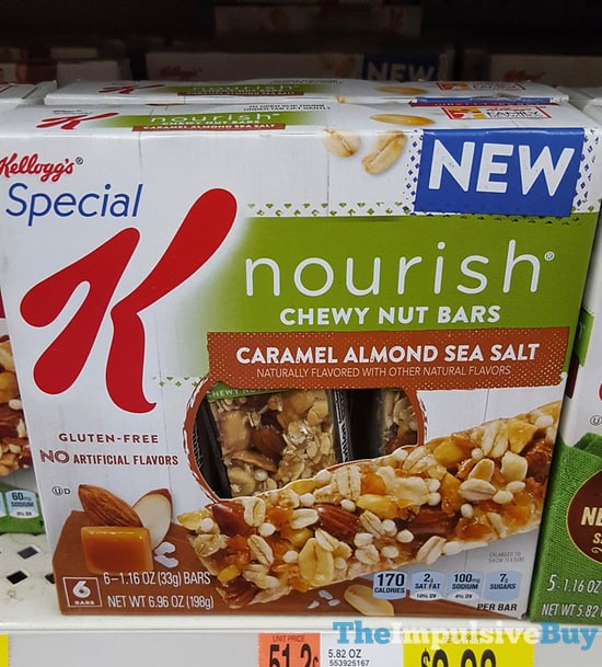 Kellogg's Special K Caramel Almond Sea Salt Nourish Chewy Nut Bars