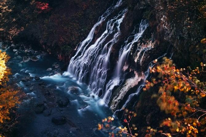 美瑛 白髭の滝