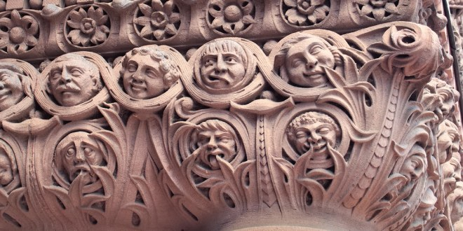 City council revenge caricatures, Edward James Lennox, 1899 - main entrance, Old City Hall, Toronto