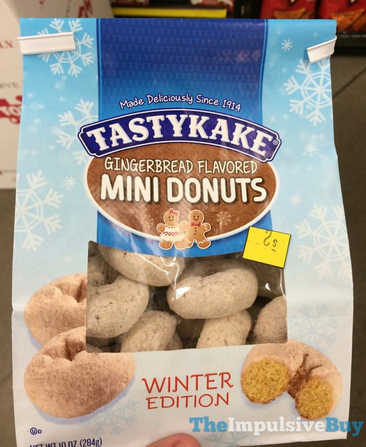 Tastykake Winter Edition Gingerbread Mini Donuts