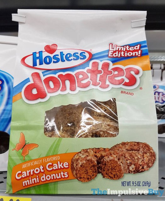 Hostess Limited Edition Donettes Carrot Cake Mini Donuts