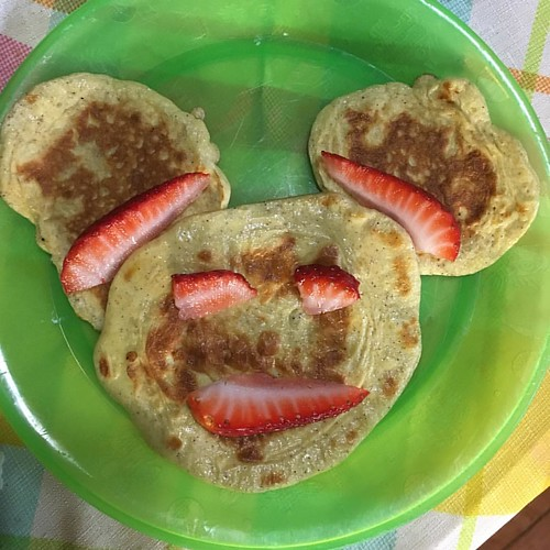 My pancake game is strong! #pancakeart #pancake #mickeymouse #breakfast #sundayfunday #keto #lowcarb