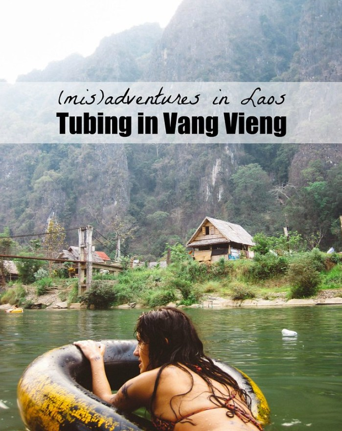 (mis)Adventures in Laos: Tubing in Vang Vieng | Perogy and Panda
