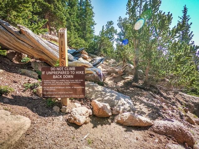 Do Not Climb Pikes Peak